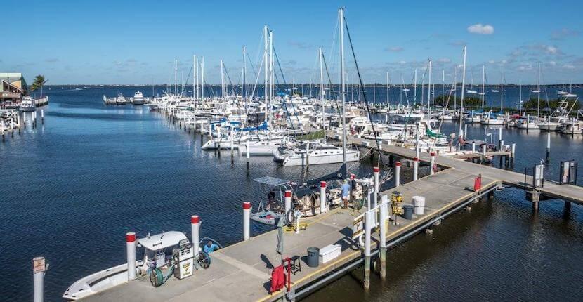 Full service marina, boat dockage, sightseeing tours, fishing charters Fishermen's Village Punta Gorda, Florida