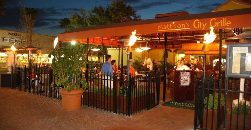 Mattison's City Grille. Enjoy dining, drinks, and live entertainment at this Sarasota, Florida Main Street outdoor covered restaurant and bar. Must Do Visitor Guides | MustDo.com