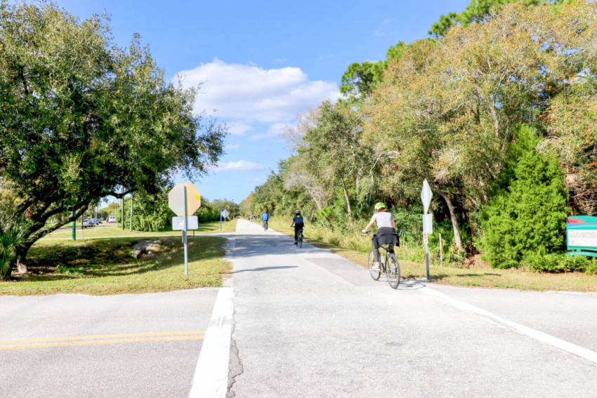 The Legacy Trail paved muli-use recreational trail for biking, hiking in Sarasota and Venice, Florida. Photo by Nita Ettinger. Must Do Visitor Guides | MustDo.com