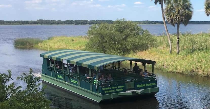 Myakka River State Park wildlife boat tours, tram tours, hiking, biking trails Sarasota, Florida. USA.