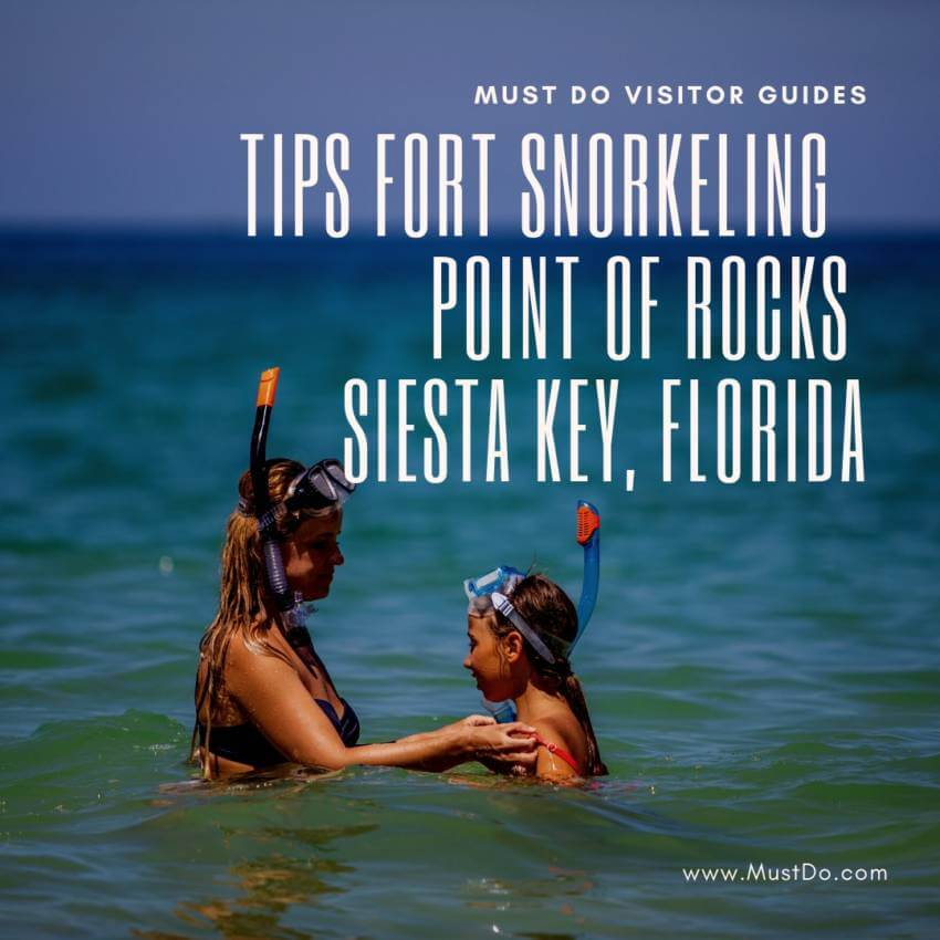 Tips for snorkeling at Point of Rocks near Crescent Beach in Siesta Key, Florida. Must Do Visitor Guides | MustDo.com