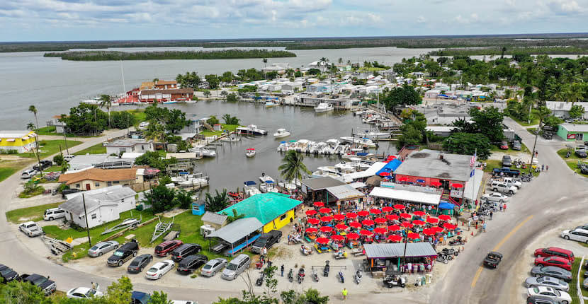 Goodland, Florida is a small community off State Road 92 at the southeast corner of Marco Island that offers visitors laid back charm, a variety of waterfront restaurants–featuring music and dancing, and family-friendly water sport activities.
