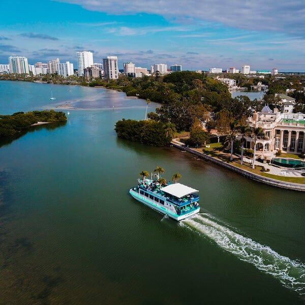 Lebarge Tropical Cruises. Relax and enjoy an educational and fun narrated sightseeing, nature, or sunset cruise with live music, food, and drinks in Sarasota, Florida