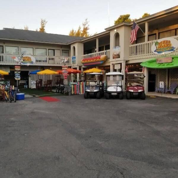 Sunny Island Adventures in Captiva Island, Florida offer bike and golf cart rentals, water sport activities; parasailing, banana boat rides, waverunner, paddleboard, and kayak rentals.