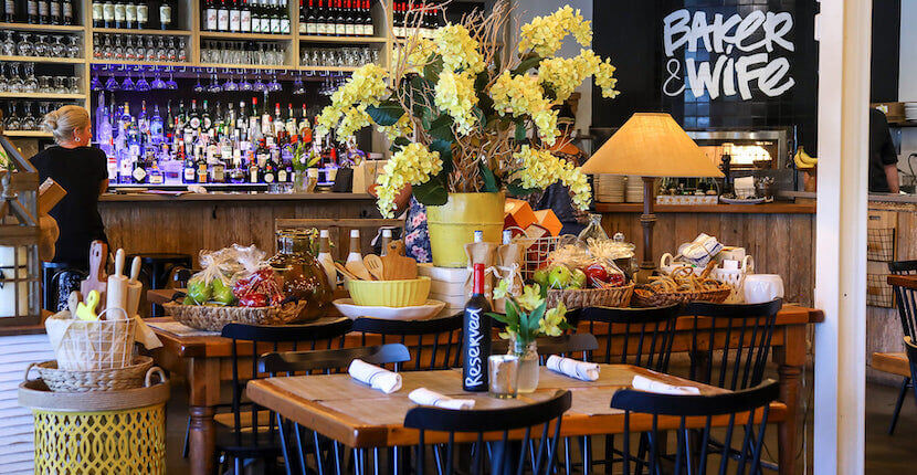 Baker & Wife is a European-style cafe close to Sarasota & Siesta Key. The menu features salads, inventive globally inspired seafood, brick oven pizza & meats.