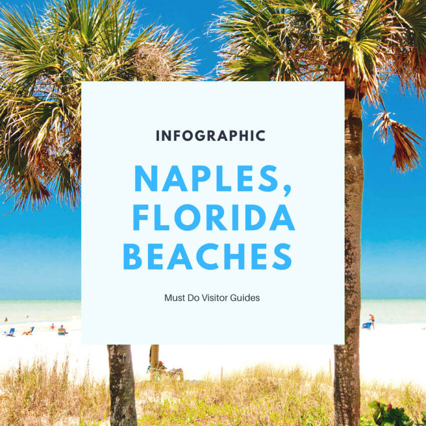 Naples, Florida Beaches Infographic.  Naples, Florida offers top-rated, gorgeous, family-friendly beaches with soft white sand, and the calm waters of the Gulf of Mexico so you can relax and soak in the fun.  Must Do Visitor Guides