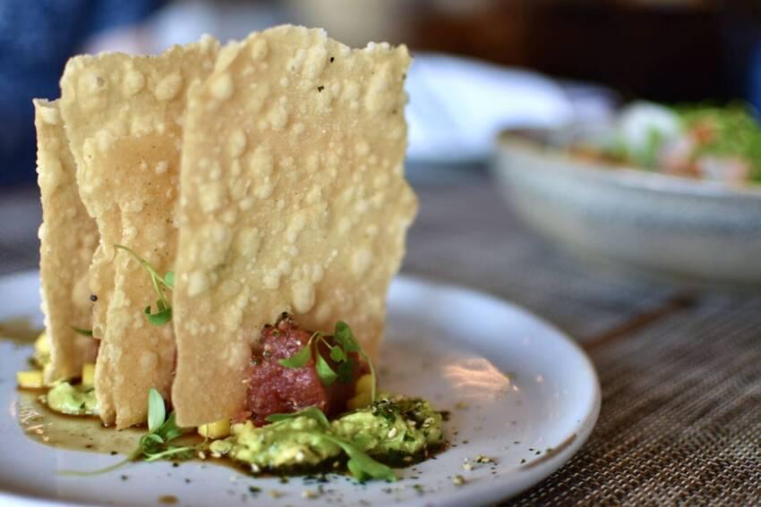 Spicy tuna tartare Baker & Wife restaurant Sarasota