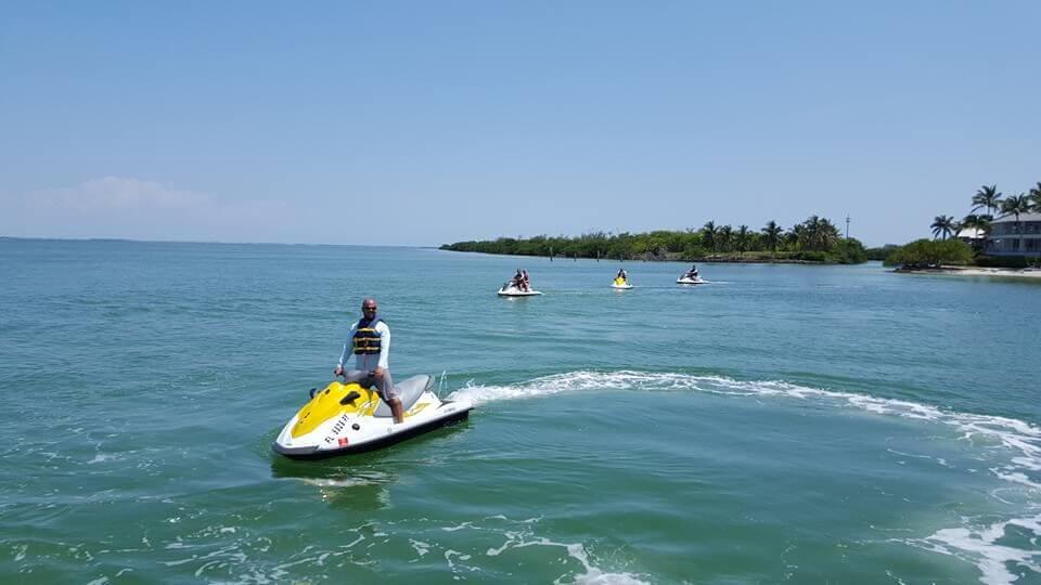 WaveRunner tour in Captiva Island, Florida Sunny Island Adventures.