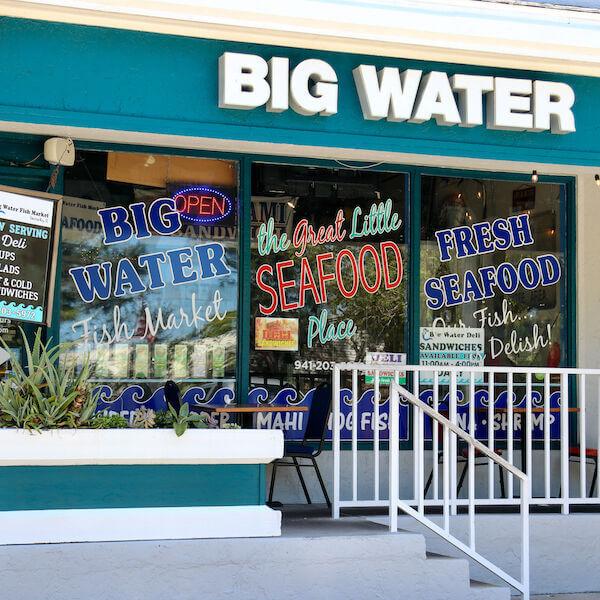 Big Water Market & Deli seafood restaurant Siesta Key, Florida.Must Do Visitor Guides | MustDo.com