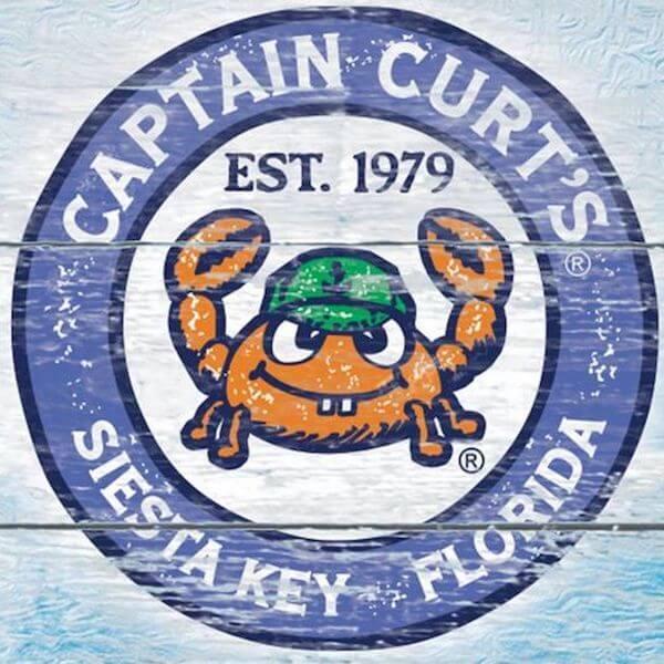 Captain Curt's Crab & Oyster Bar in Siesta Key logo