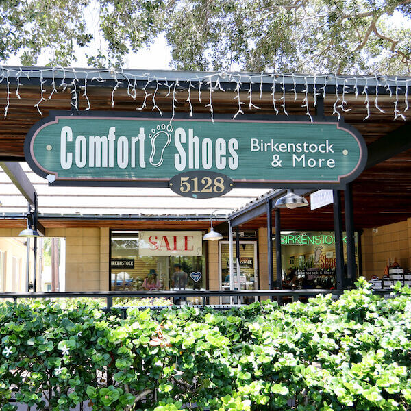 Comfort Shoes in Siesta Key offers a wide array of sandals, and flip flops brands include Birkenstock, Merrell, T, Teeva, OluKai, Oofos and more. Must Do Visitor Guides   MustDo.com.