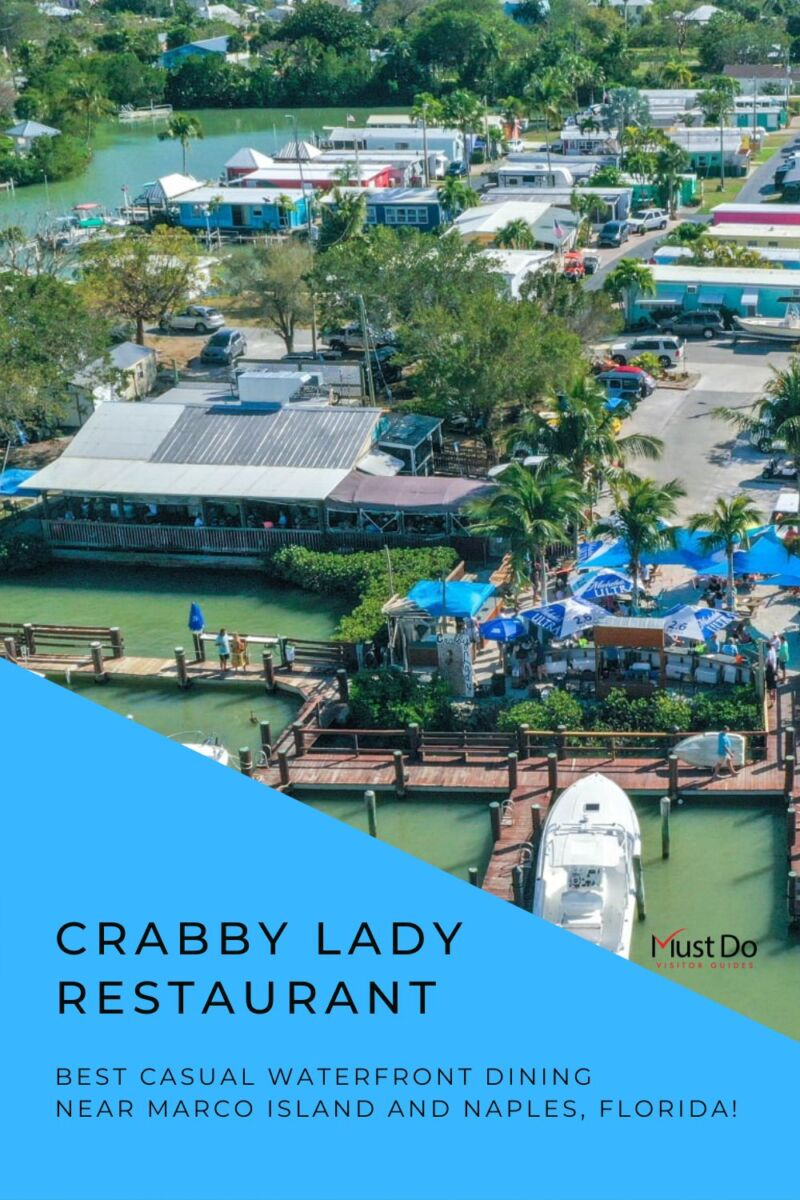 Crabby Lady Restaurant best casual waterfront dining near Marco Island and Naples, Florida.  Must Do Visitor Guides