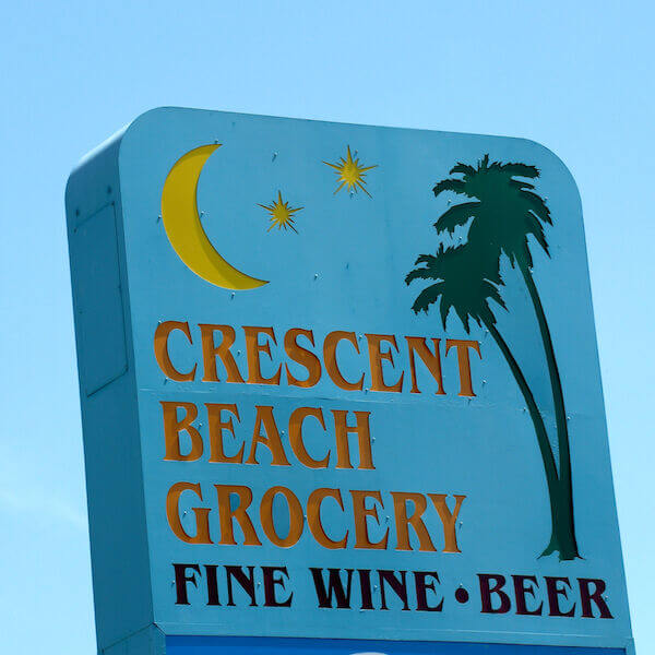 Crescent Beach Grocery in Siesta Key offers basic staples, fresh produce and dairy items, deli, ready-to-go meals, prime meats, wine and beer plus beach supplies.