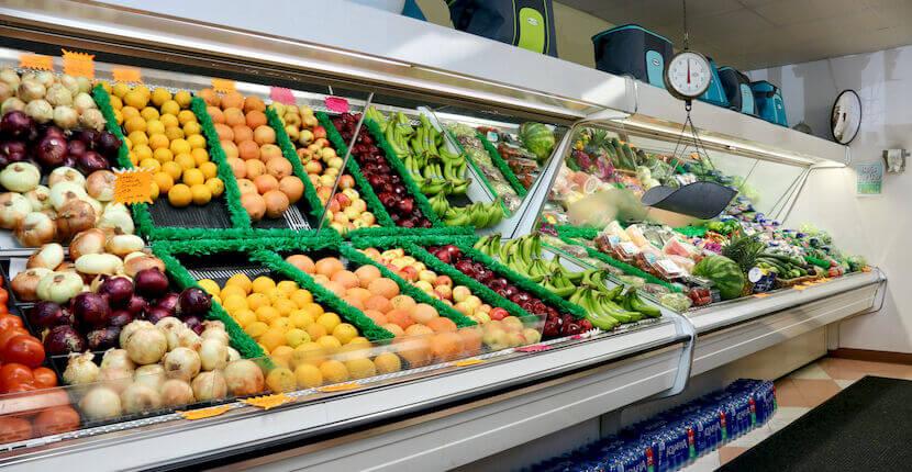 Fresh produce at Crescent Beach Grocery in Siesta Key, Florida