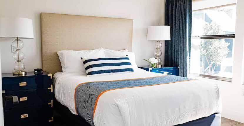 Guest bedroom at The Suites vacation rental Fishermen's Village Punta Gorda, Florida.