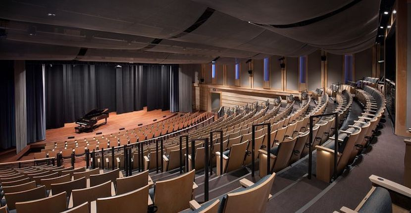 Performance hall at BIG Arts cultural arts center in Sanibel, Florida.
