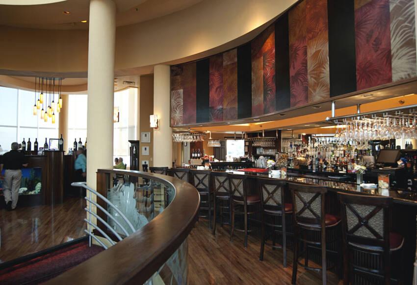 Interior of Marina Jack fine dining restaurant bar in Sarasota, Florida